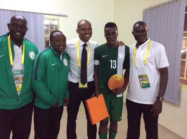 Chikatara with Coach Oliseh and others