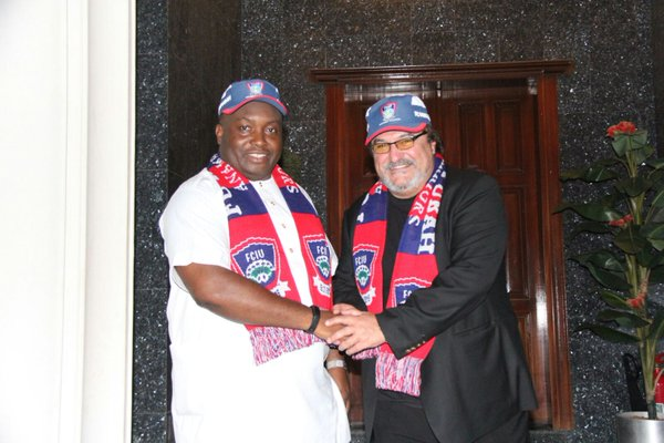 Mitko Dobrev and Ifeanyi Ubah, President of the Club