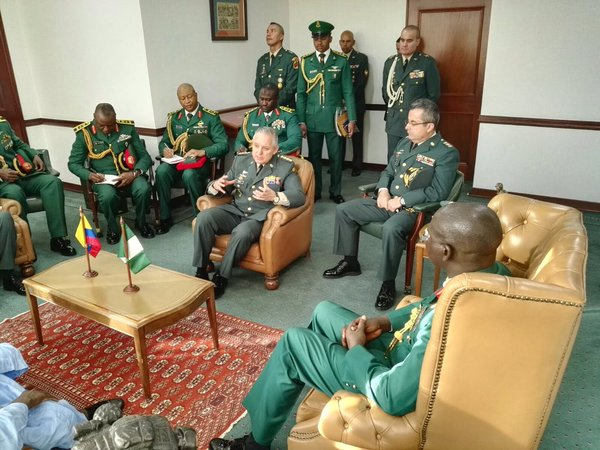 Buratai meets with Colombia's army officers