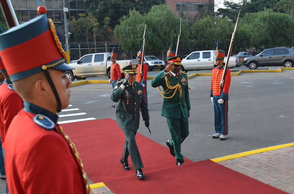 Buratai at the Colombia's army headquarters