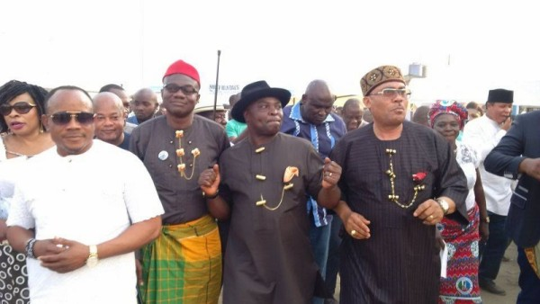 Dr Ikanya, the APC Chairman in Rivers state and other leaders of the party