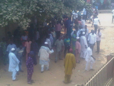 Ejigbo residents at  the court to witness the arraignment