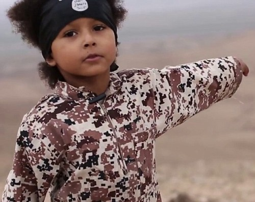 isa Dare, now six years old vowing to kill non believers