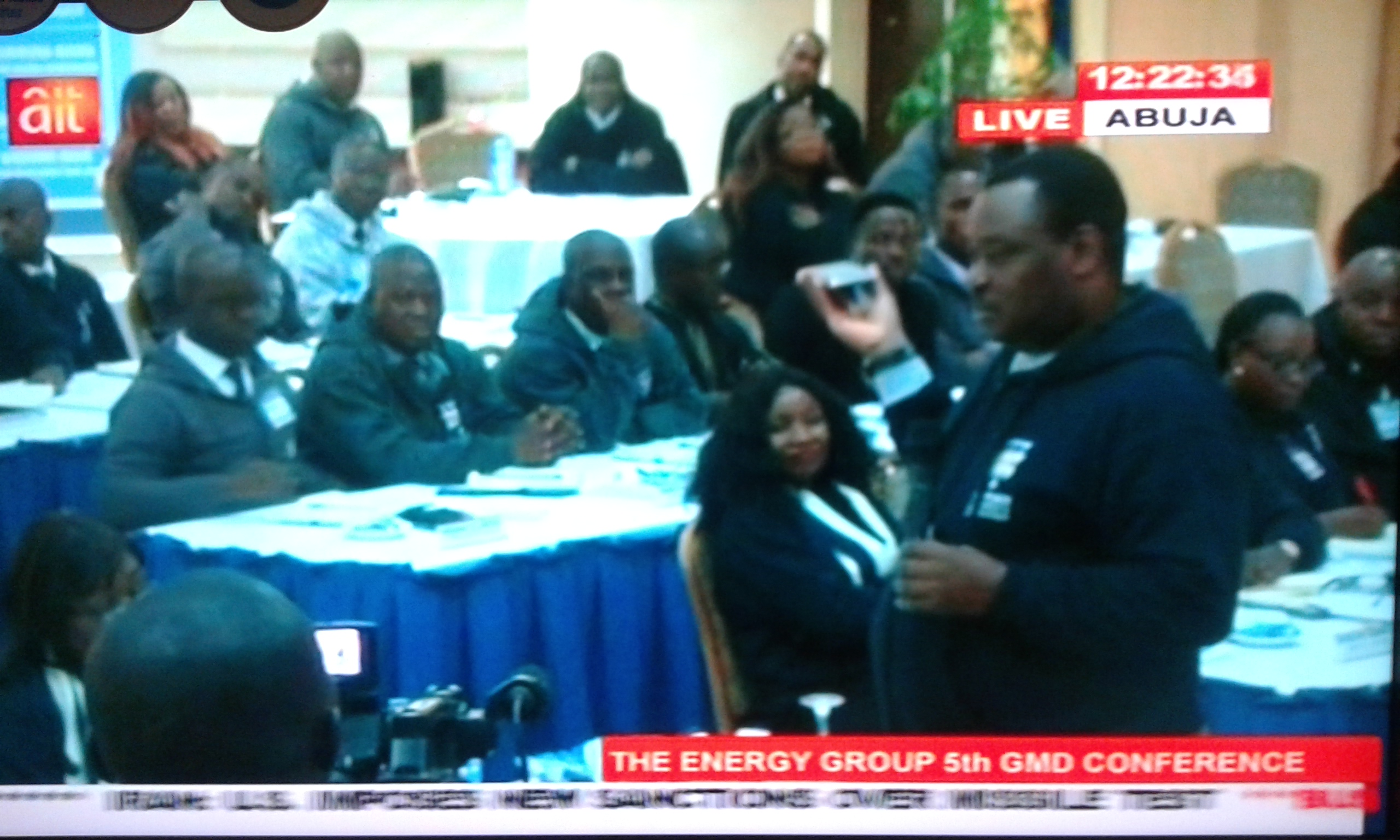 Jimoh Ibrahim live on TV at the conference