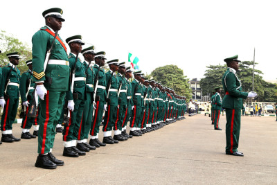 Nigeria Army at TBS during this year's Armed Forces Remembrance  Day celebration in Lagos. Photo:  Idowu Ogunleye