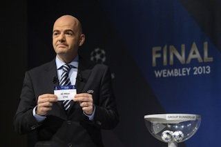 General secretary of the UEFA Gianni Infantino  favoured by France's FA chief