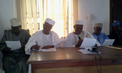 Dr. Abdullahi Idris, spokesman for Tsaragi community and another official at the briefing