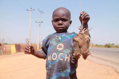 One of the Abuja kid rat hawkers