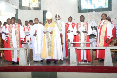 The Primate of Church of Nigeria (Anglican Communion), Most Revd Nicholas Okoh and other Bishops during the consecration ceremony