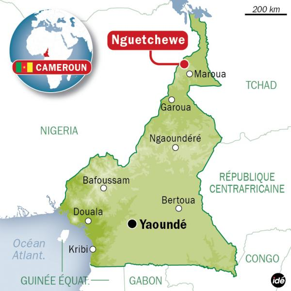 Nguetchwe Cameroon. Map credit: http://www.ladepeche.fr/