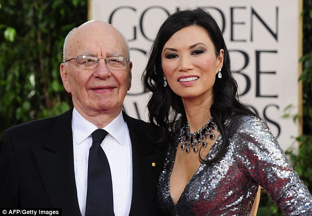 Murdoch and Wendi Deng before their separation
