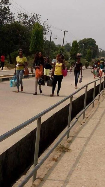 Niger Delta varsity students seen going home on Tuesday