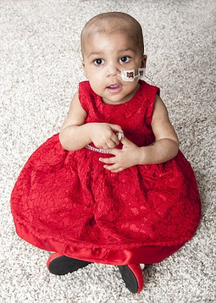 LAYLA  RICHARDS: 18 months old had the treatment and was cured