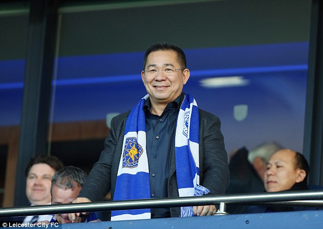 Vichai Srivaddhanaprabha: tempts Leicester boys with trip to Sin City