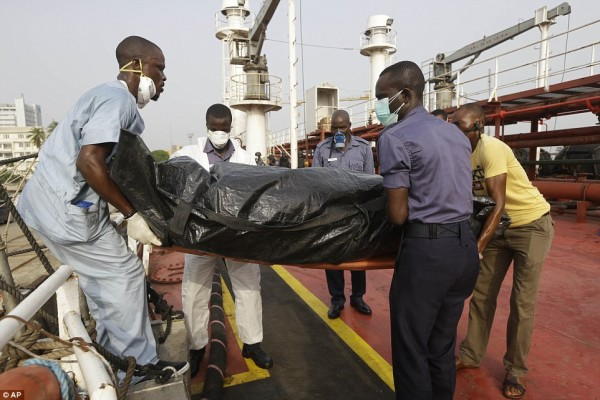 The pirate killed in the Navy operation in a body bag