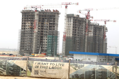 Building under construction at the City. Photo Credit: Idowu Ogunleye