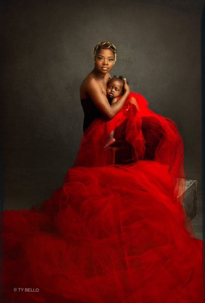 Olajumoke with her 14 month old child