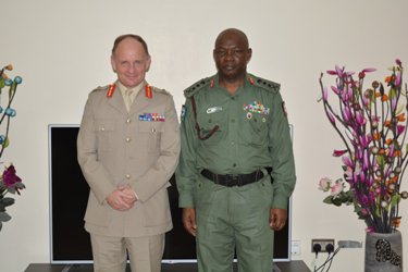 Major General Adrian Foster and General Olonisakin