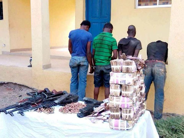 Osun robbers and their loot