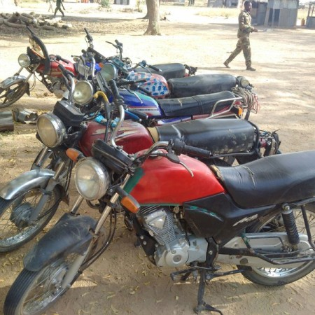 motor cycles seized from Boko Haram