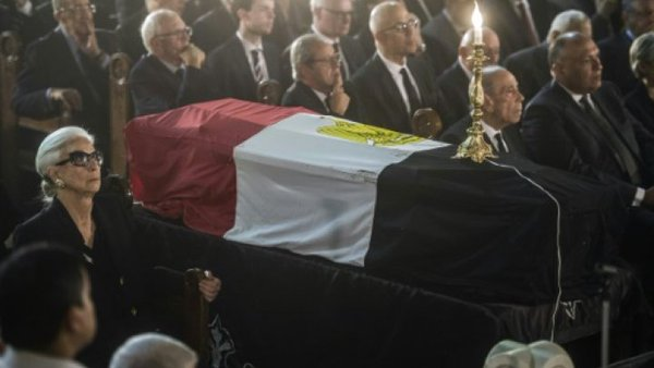 Funeral procession for Boutros Ghali in Cairo