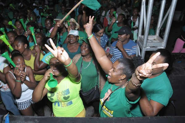 Jamaica's Labour Party supporters celebrate narrow victory