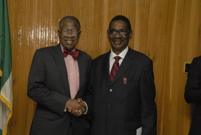 L-R: Lai Mohammed and Sagay