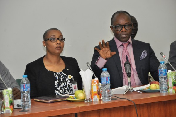 The Minister of State For Petroleum Resources and Group Managing Director of the NNPC, Dr. Ibe Kachikwu and the Managing Director of the Pipelines and Products Marketing Company, Mrs. Esther Nnamdi-Ogbue explaining the Direct Sale-Direct Purchase Crude Oil arrangement to the House of Representatives Ad-Hoc Committee