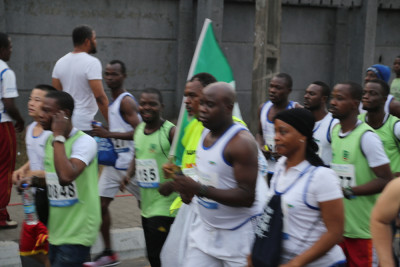 The athletes at the starting point. Photo credit: Idowu Ogunleye
