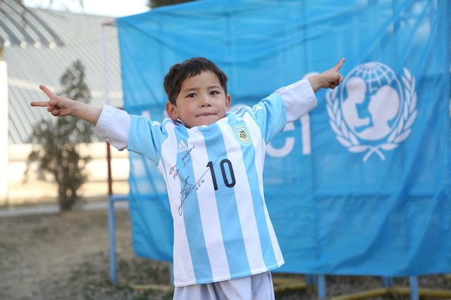Murtaza with his Messi jersey