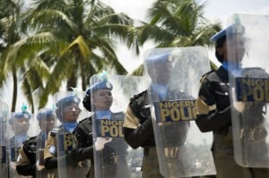 Nigerian police peace keepers on UN Mission