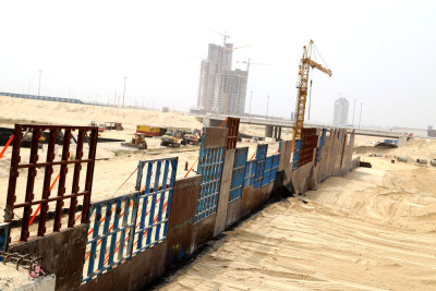 Ongoing construction at the City. Photo Credit: Idowu Ogunleye