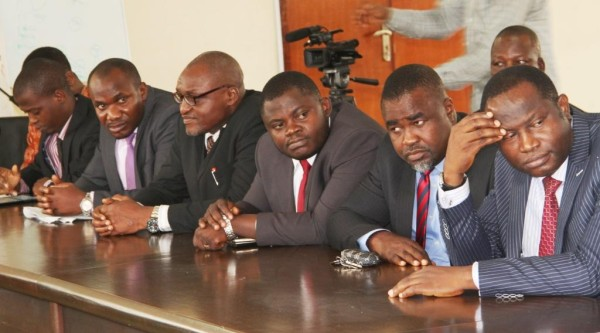 A cross section of the lawyers at the solidarity visit to EFCC