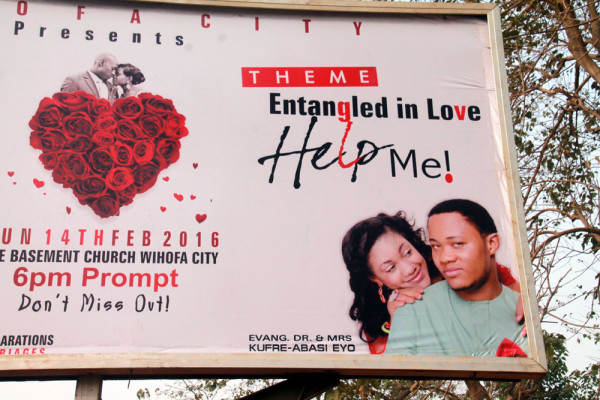Another pastor and wife billboard