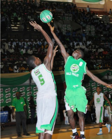 Players in action during one of the past editions of   Nestle Milo Secondary Schools Basketball Championship