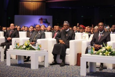 President Buhari at the official opening of Business for Africa, Egypt and the World in Sharm El-Sheikh Egypt. February 20, 2016