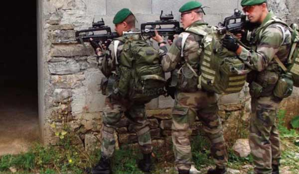French special forces in training