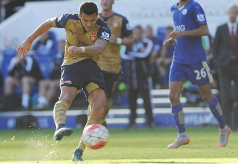 Alexis Sanchez when Arsenal visited Leicester in September