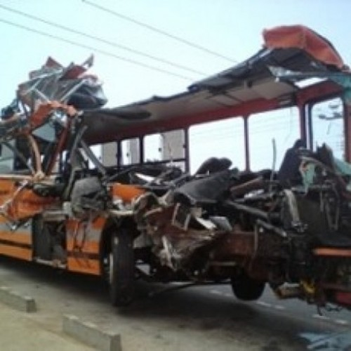 Ghana: scene of the accident. Photo Graphic Online
