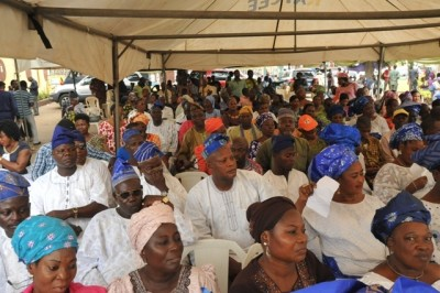 Cross section of participants at the stakeholder meeting for the Abule Egba Flyover construction