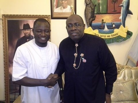 R-L: Gov Dickson and Francis Agbo