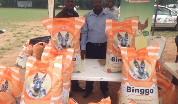 Marketers of Binggo at a dog show in Ibadan in 2014