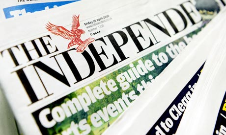 Independent Newspaper: Bye Bye to print edition