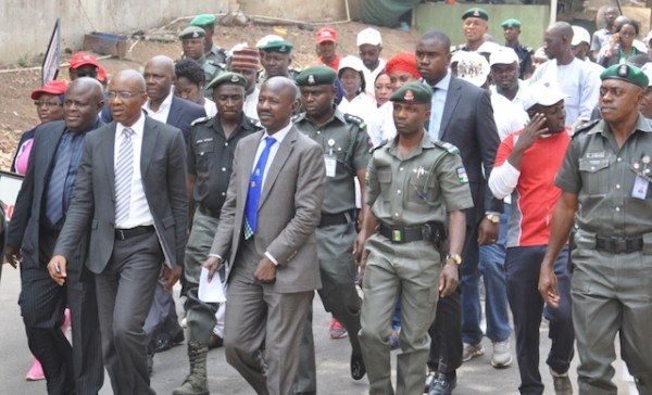 Magu and his officers going for the rally