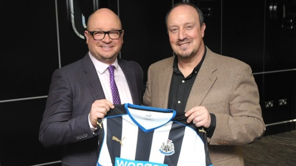Lee Charnley and Benitez