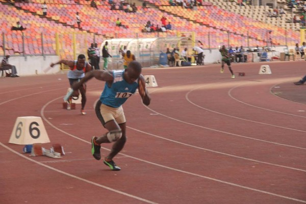 A relay race at the games
