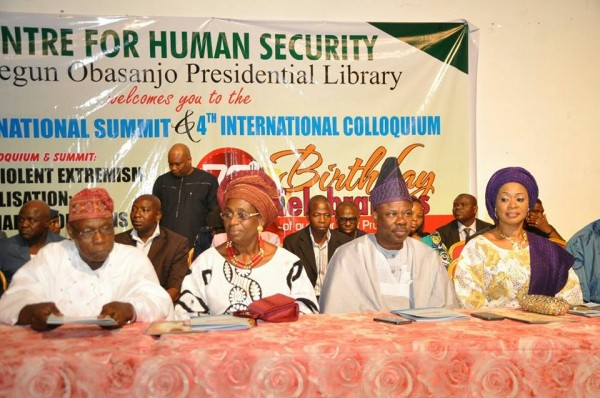 Obasanjo, his wife, Amosun and his wife