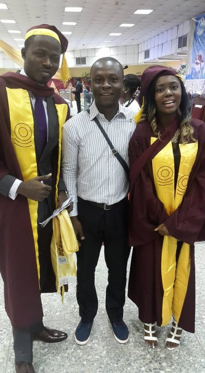 Ayodele Daniel Dada, with another graduate, Ikwuazo Chinwe who also made a first class with 4.68 score