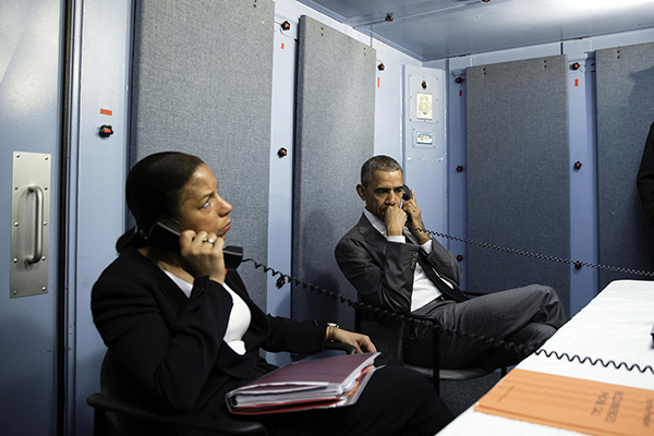 Obama making the call to Belgium's PM, Michel today