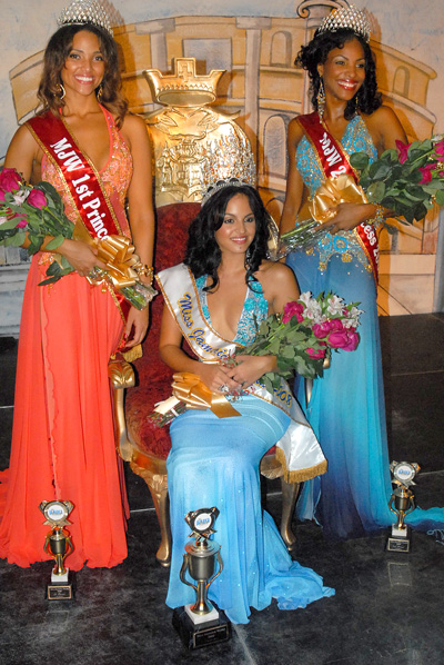 Marsha Gay Reynolds , right, was second runner up in Miss Jamaica contest in 2008. The winner was Brittany Lyons. and Jade Grant, first runner-up (left).